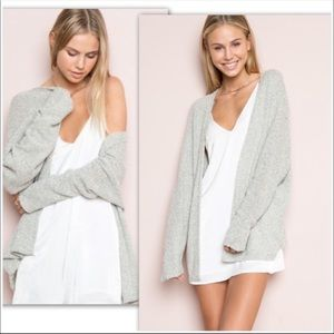 Brandy Melville Caroline Gray Cardigan Sweater